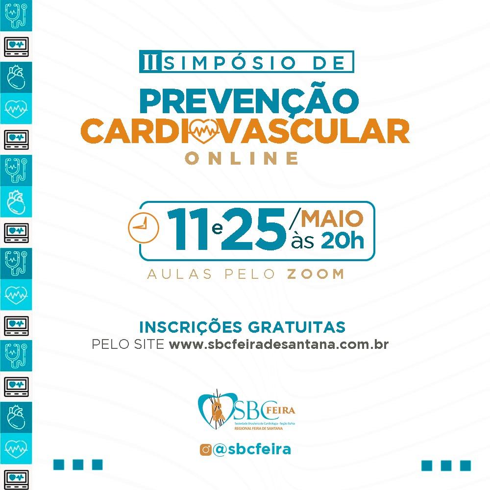 II Simpósio Online de Prevenção Cardiovascular acontecerá nos dias 11 e 25 de maio
